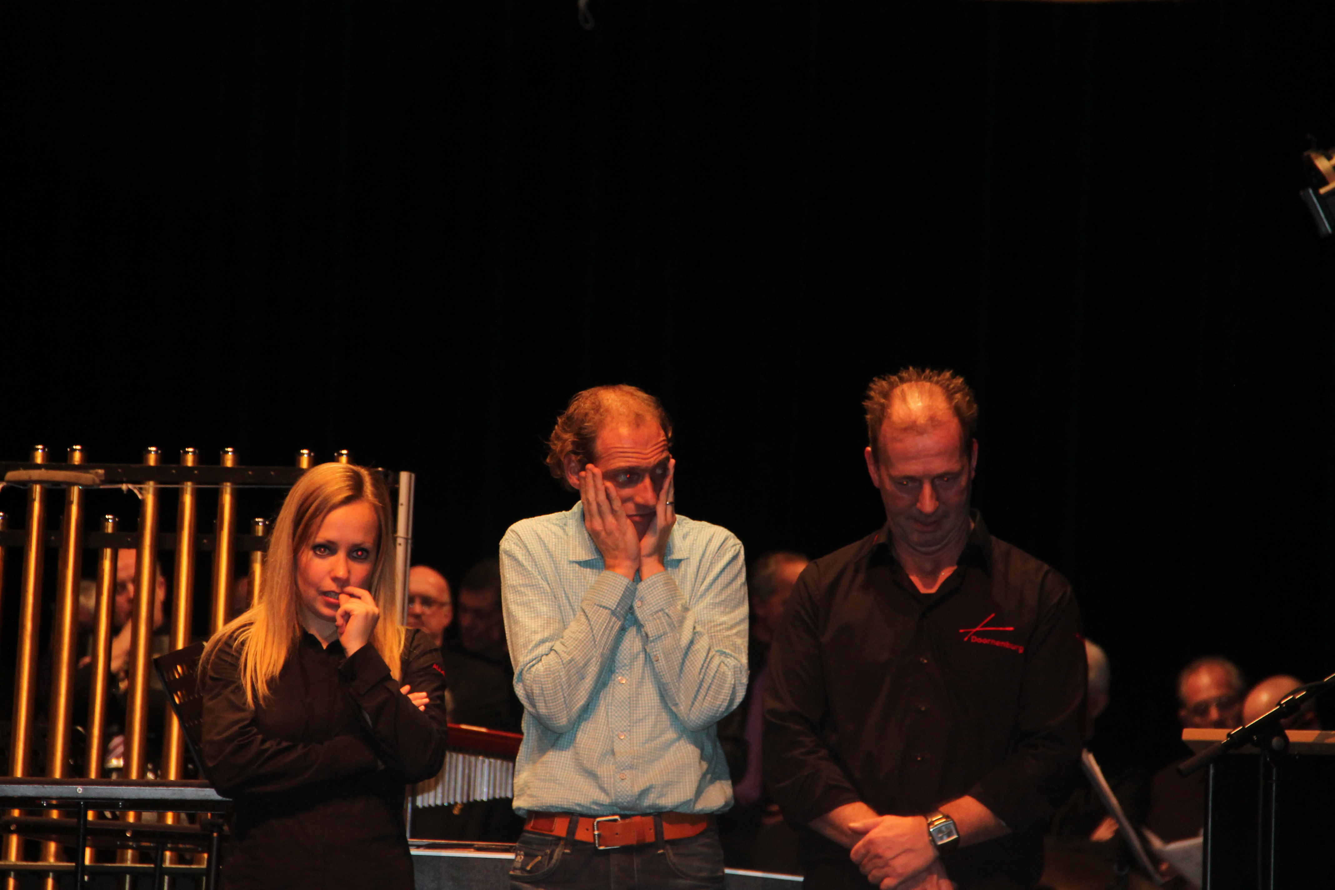 Spanning bij Lisa Peters, Casper Traa en Bert Selman vlak voor prijsuitreiking!